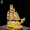 Tượng thuyền buồm mạ vàng 24K