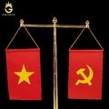 Cột Cờ Tròn Bằng Đồng Mạ Vàng Khắc Quốc Huy Chữ S Việt Nam