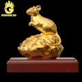 Tượng chuột mạ vàng 24k - Quý linh tuổi tý