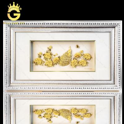 Tranh Vinh Hoa Phú Quý dát vàng 24k quà tặng hạnh phúc viên mãn
