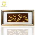 Tranh cửu ngư quần hội bằng vàng lá 24k làm quà tặng đối tác kinh doanh