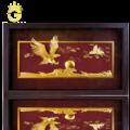 Tranh vàng 24k Đại Triển Hồng Hồ - Tranh đại bàng tung cánh