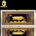 Tranh cá rồng bằng vàng lá 3D quà tặng doanh nhân