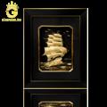 Tranh thuận buồm xuôi gió dát vàng 24k, quà tặng doanh nhân