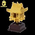 Mô hình chùa một cột bằng đồng dát vàng 24k quà tặng