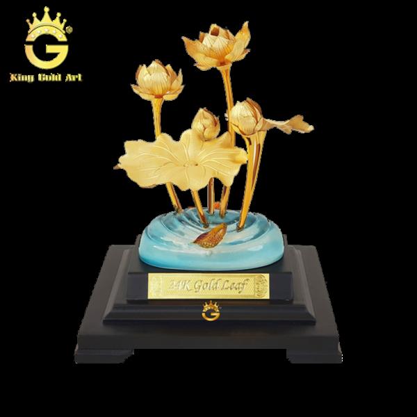 Sen vàng dát vàng 24K biểu tượng Quốc hoa Việt nam