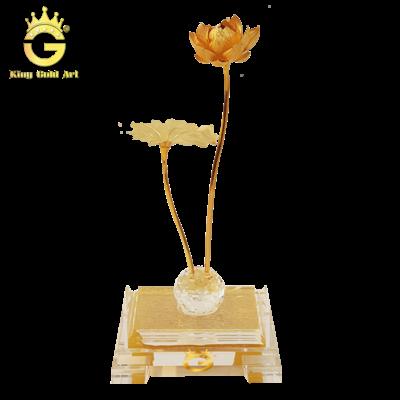 Hoa sen dát vàng 24k
