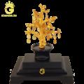 Cây tiền vàng bằng đồng dát vàng 24k