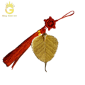 Lá bồ đề dát vàng 24k biểu tượng bình an và may mắn