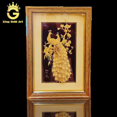 Tranh Phú Quý Cát Tường dát vàng 24k
