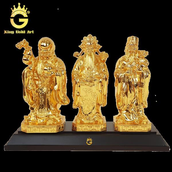 Tượng ba ông tam đa bằng đồng mạ vàng
