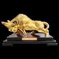 Bò tài chính (bò tót) năm 2021 mạ vàng 24K