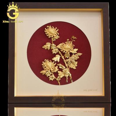 Tranh vàng bông hoa cúc làm quà tặng ý nghĩa