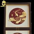 Tranh cá chép hoa sen bằng vàng lá 24k