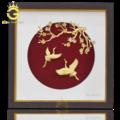 Tranh chim hạc mạ vàng làm quà tặng mừng thọ ý nghĩa