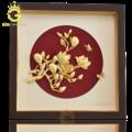 Tranh hoa ngọc lan bằng vàng lá 24k làm quà tặng sếp nữ