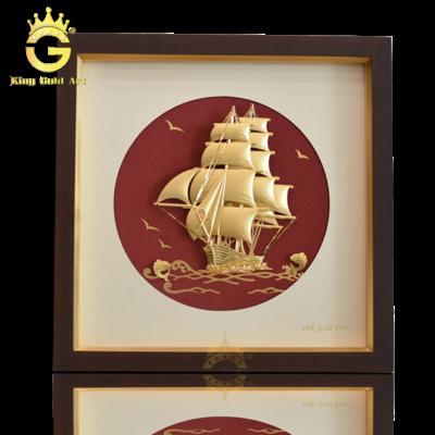 Quà tặng tranh vàng, tranh thuận buồm xuôi gió đẹp tinh xảo