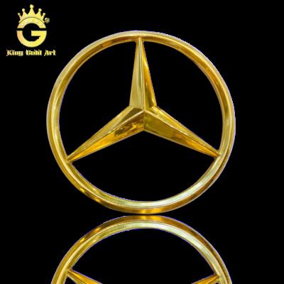 Logo Xe Mercedes dát vàng 24k