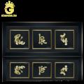 Bộ tranh chữ Phúc Lộc Thọ dát vàng 24k