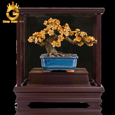 Cây bonsai mai vàng dát vàng 24k