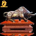 Tượng bò tài chính khảm ngũ sắc