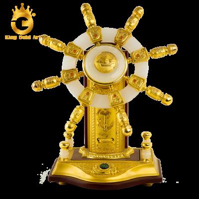Quà tặng vàng độc đáo- biểu trưng bánh lái tàu mạ vàng