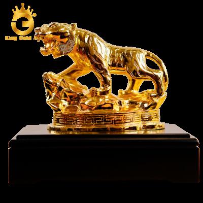Tượng hổ bằng đồng mạ vàng- quà tặng sếp tuổi Dần