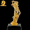 Quà tặng tượng nữ thần công lý bằng đồng mạ vàng