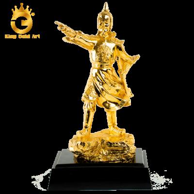 Đúc tượng Trần Hưng Đạo mạ vàng 24k cao cấp