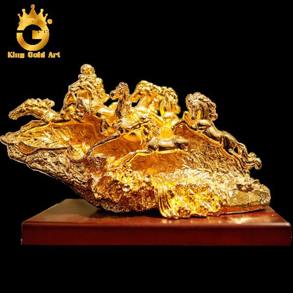 Quà tặng tượng bát mã truy phong mạ vàng cao cấp