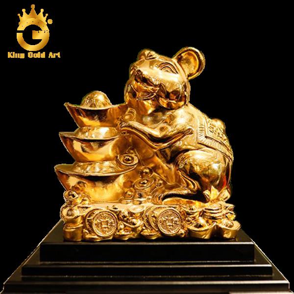 Tượng chuột vàng làm quà tặng sếp tuổi Tý