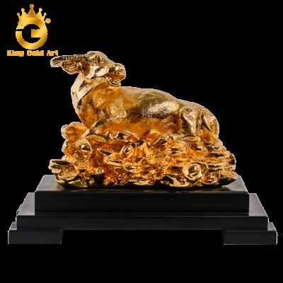 Tượng trâu phong thủy mạ vàng 24k cao cấp