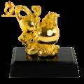 Hồ lô phong thủy bằng đồng mạ vàng 24k