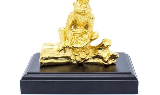 Tượng khỉ đồng mạ vàng 24k, quà tặng tuổi Thân